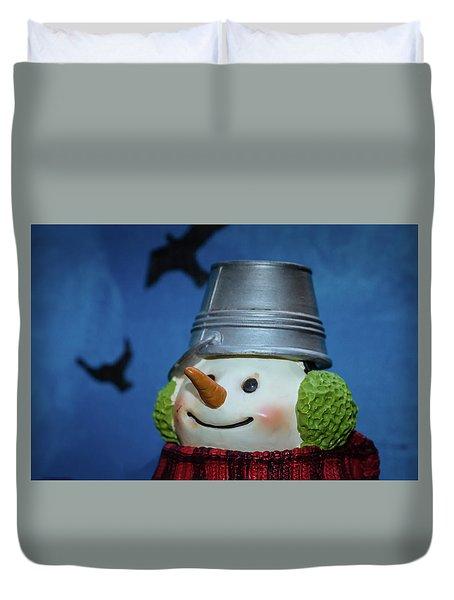 Smiling Snowman Duvet Cover