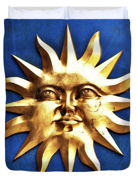 Smiling Sunshine Duvet Cover by Meirion Matthias