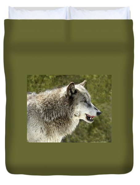 Smiling Wolf Duvet Cover