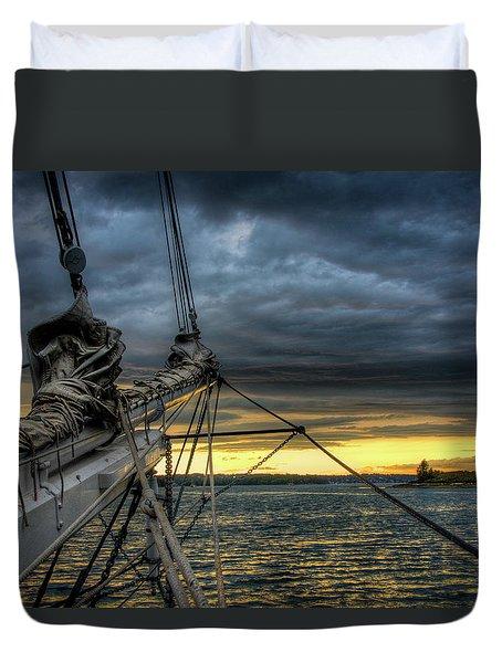 Smith Cove Sunset Duvet Cover