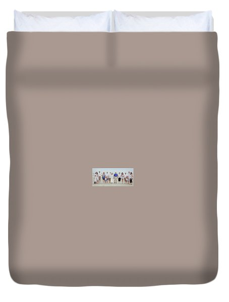 Smith Family At The Beach Duvet Cover