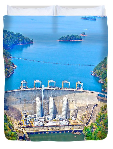 Smith Mountain Lake Dam Duvet Cover