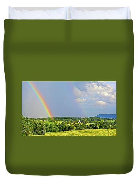 Smith Mountain Lake Rainbow Duvet Cover