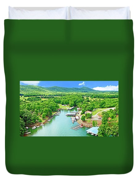 Smith Mountain Lake, Virginia. Duvet Cover