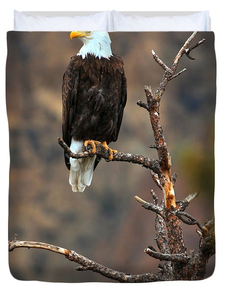 Smith Rock Bald Eagle Duvet Cover
