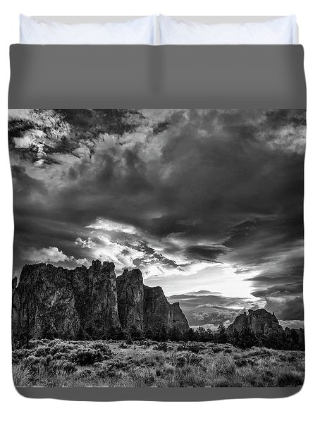 Smith Rock Fury Duvet Cover