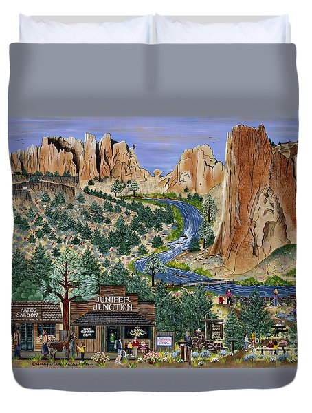 Smith Rock State Park Duvet Cover
