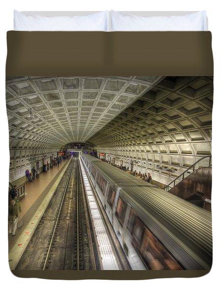 Smithsonian Metro Station Duvet Cover by Shelley Neff