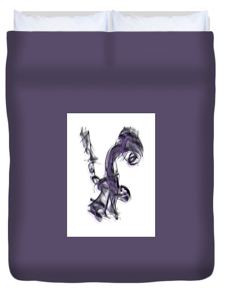 Smoke 01 Purple Duvet Cover