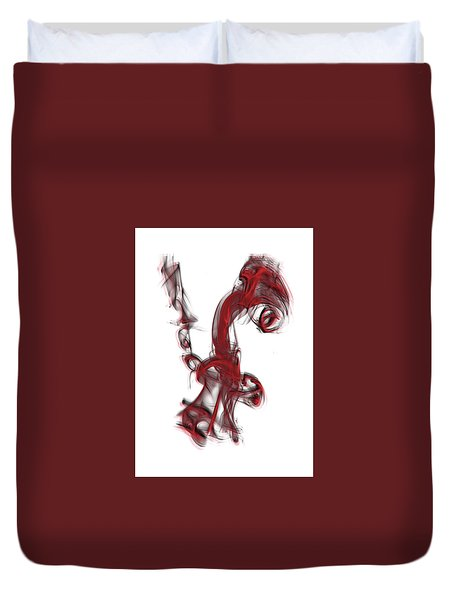 Smoke 01 Red Duvet Cover