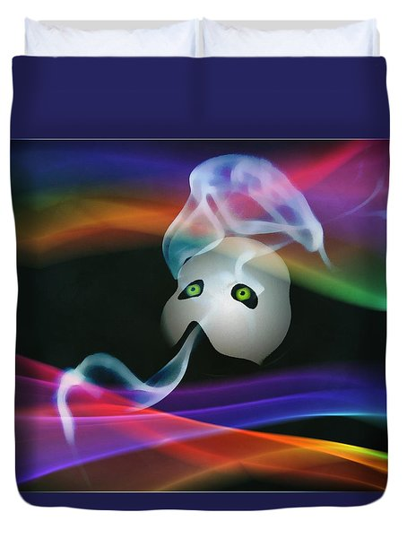 Smoke And Mirrors Duvet Cover