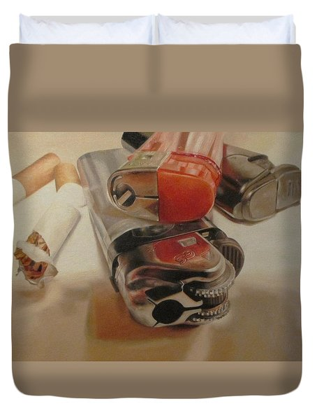 Smoke Break Duvet Cover by Cherise Foster