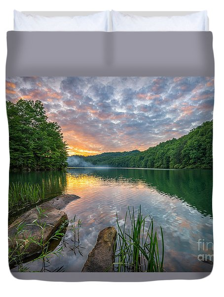 Smoke On The Water... Duvet Cover