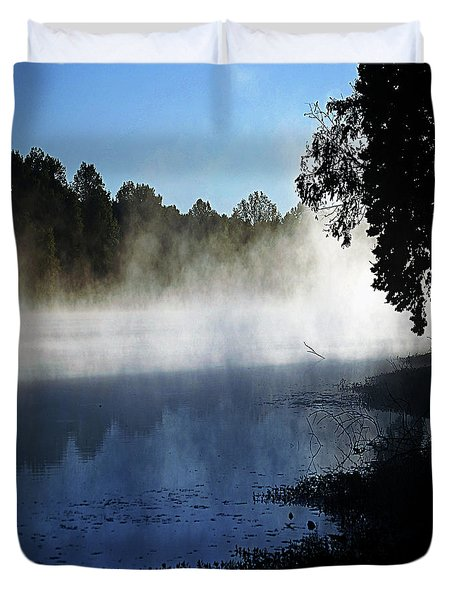 Smoke On The Water Duvet Cover by DigiArt Diaries by Vicky B Fuller