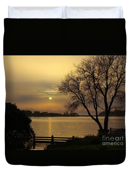 Smoke Sunrise Duvet Cover