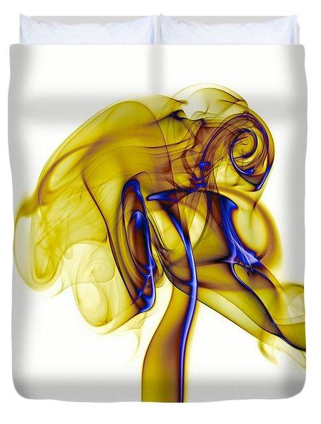 Duvet Cover featuring the photograph smoke VIII c by Joerg Lingnau