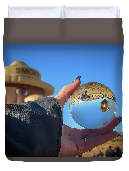 Smokey Bear Balloon In The Crystal Ball Duvet Cover