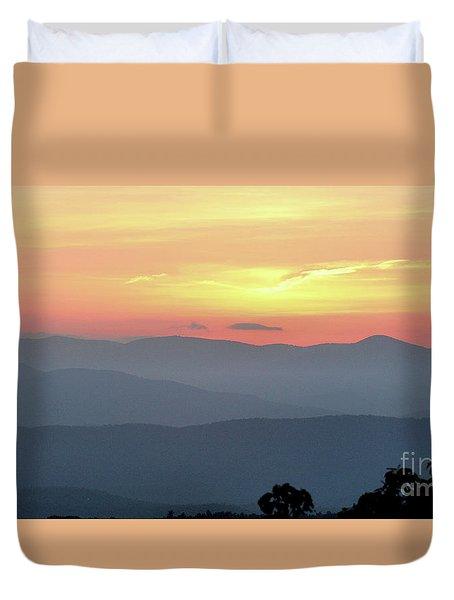 Smokey Mnt Sunset Duvet Cover