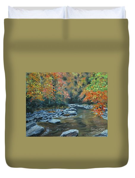 Smokey Mountain Autumn Duvet Cover
