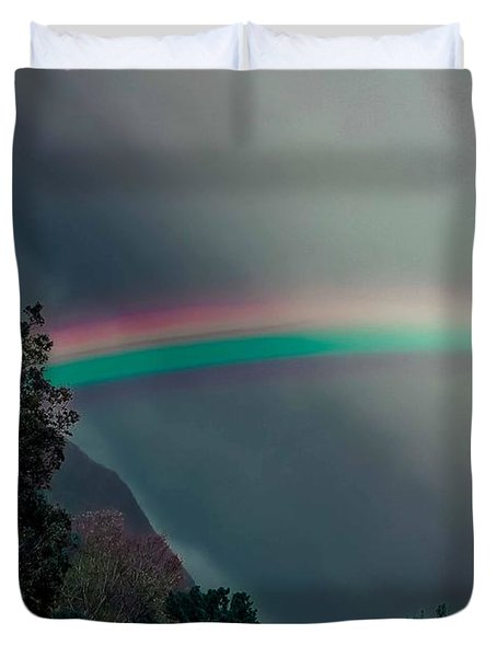 Smokey Mountain Majesty Duvet Cover by DigiArt Diaries by Vicky B Fuller