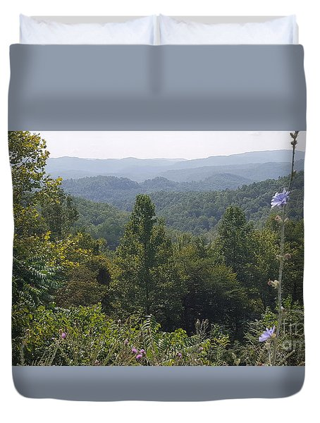 Smokey Mountain Sentinel Duvet Cover
