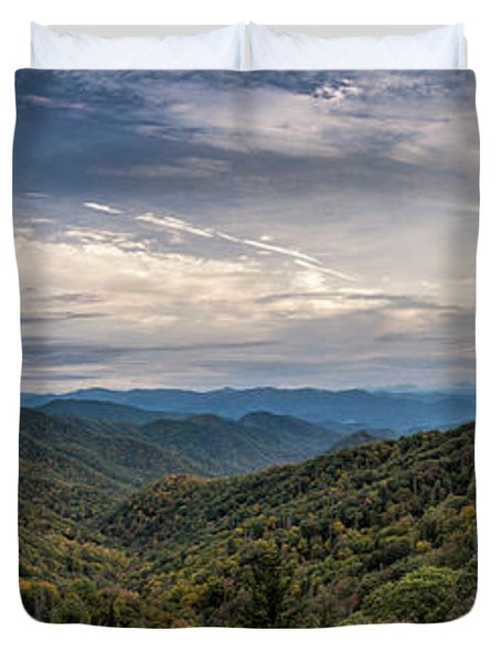 Smokey Mountain Sky Duvet Cover