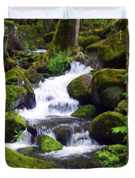 Smokey Mountain Stream Duvet Cover by Marty Koch