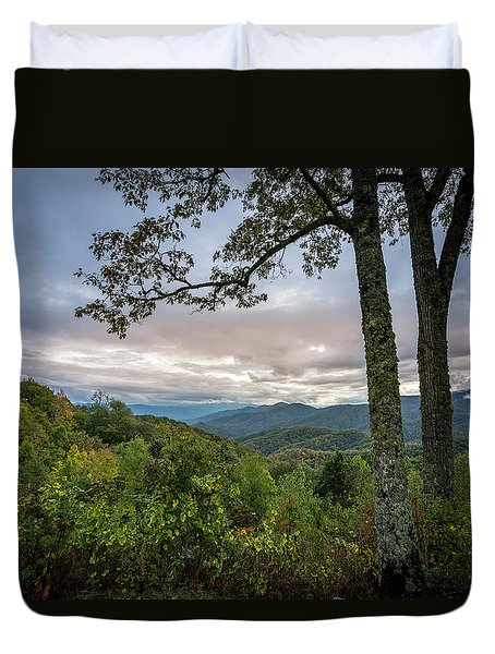 Smokey Mountain Sunset Duvet Cover