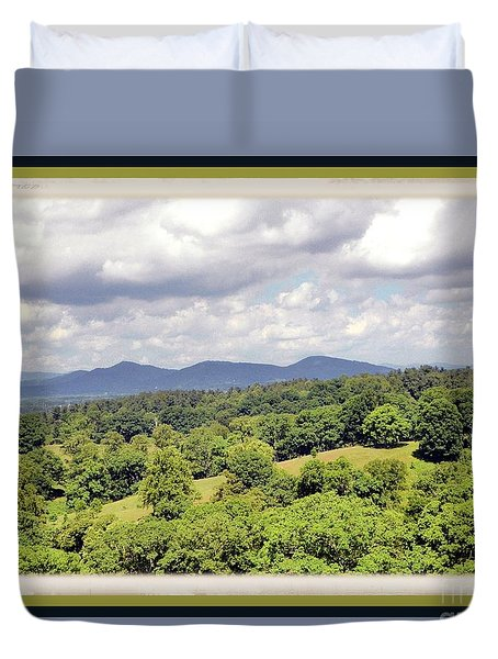 Smokey Mountain View Duvet Cover