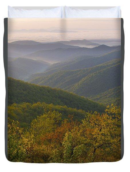 Smokey Mountains Duvet Cover