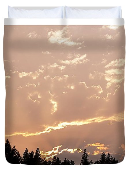 Smokey Skies Sunset Duvet Cover