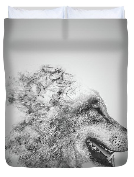 Smokey Wolf Duvet Cover