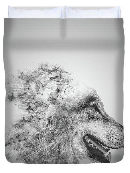 Smokey Wolf Duvet Cover