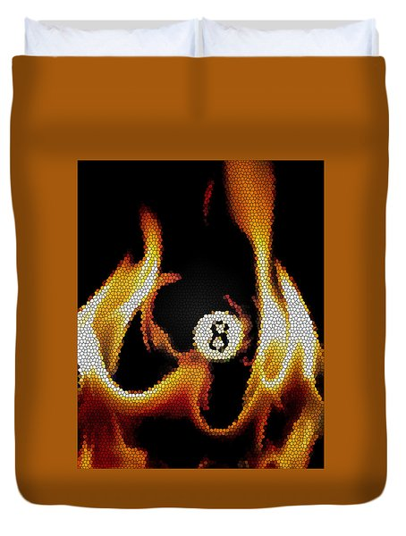Duvet Cover featuring the photograph Smokin' 8 Ball II by Chris Fraser