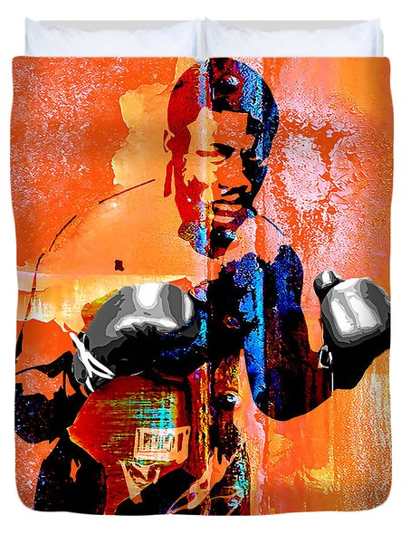 Smokin Joe Frazier Collection Duvet Cover by Marvin Blaine