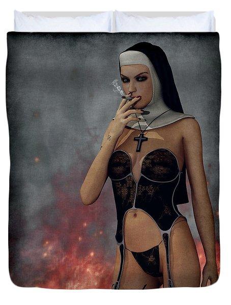Smokin Nun Duvet Cover