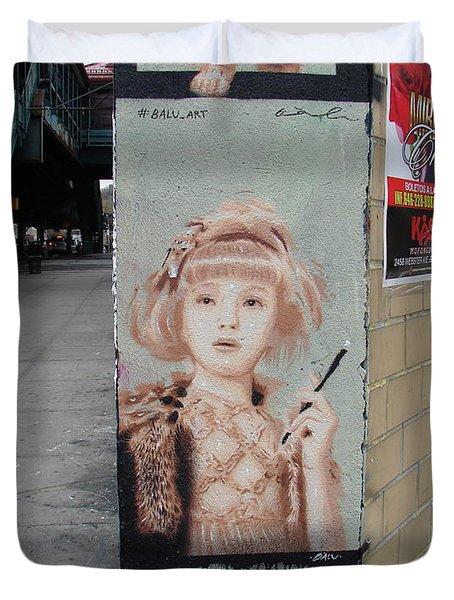 Smoking Girl  Duvet Cover