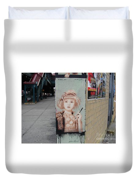 Smoking Girl  Duvet Cover by Cole Thompson