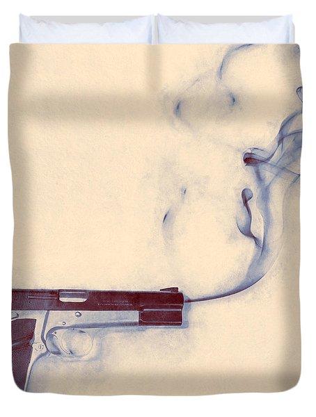 Smoking Gun Duvet Cover