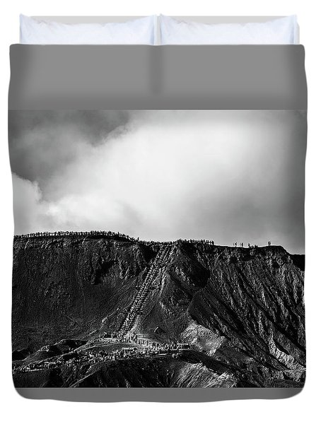 Duvet Cover featuring the photograph Smoking Volcano by Pradeep Raja Prints
