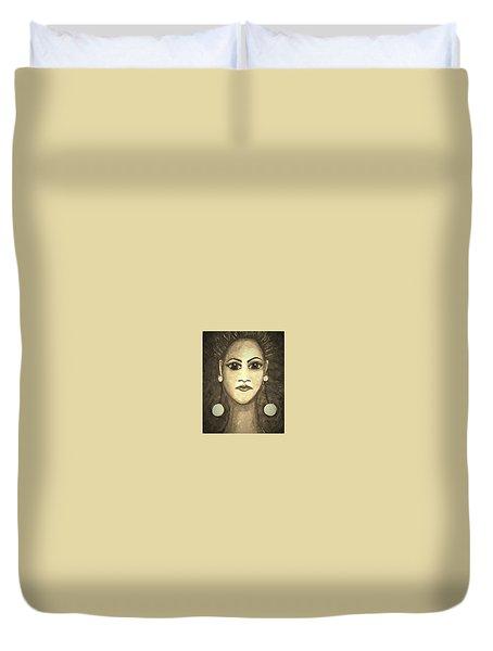 Smoking Woman 1 Duvet Cover