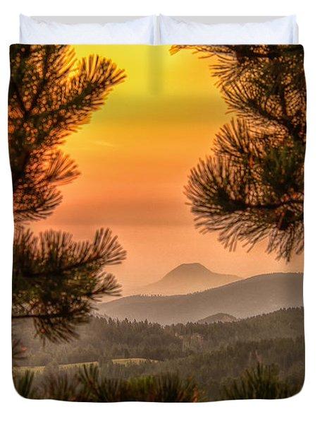 Smoky Black Hills Sunrise Duvet Cover