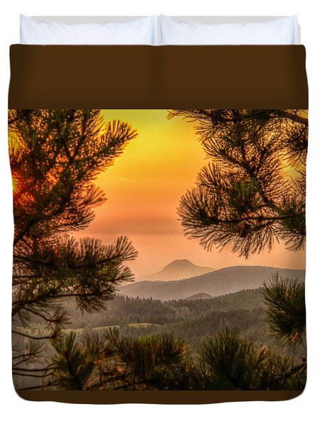 Smoky Black Hills Sunrise Duvet Cover