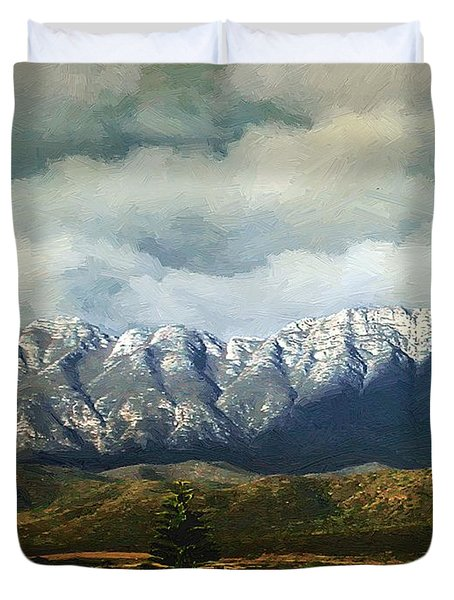 Smoky Clouds On A Thursday Duvet Cover by RC deWinter