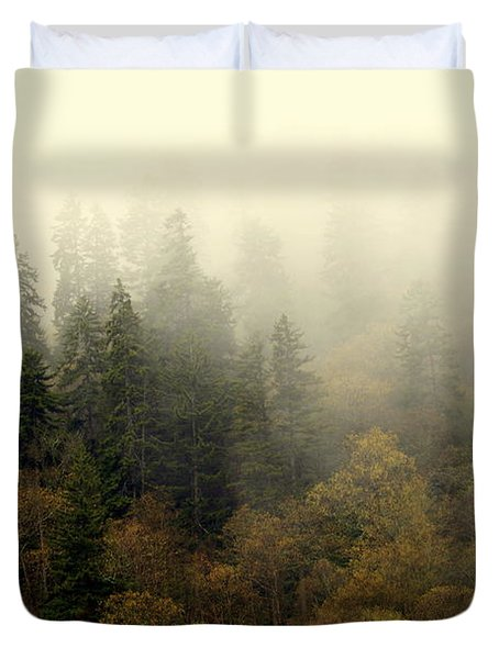 Smoky Mount Horizontal Duvet Cover by Marty Koch