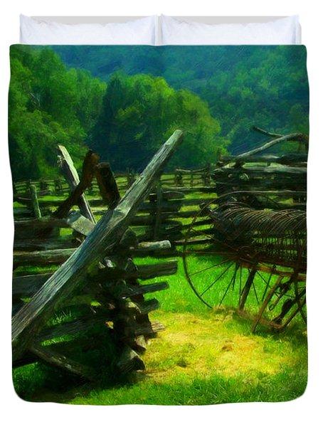 Smoky Mountain Farm 1900s Duvet Cover