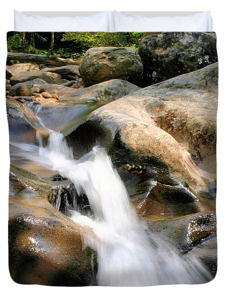 Smoky Mountain Flow Duvet Cover by Kristin Elmquist