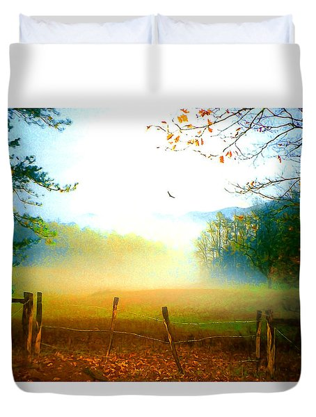 Smoky Mountain Fog Duvet Cover