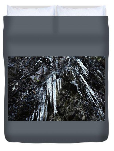 Smoky Mountain Ice Duvet Cover