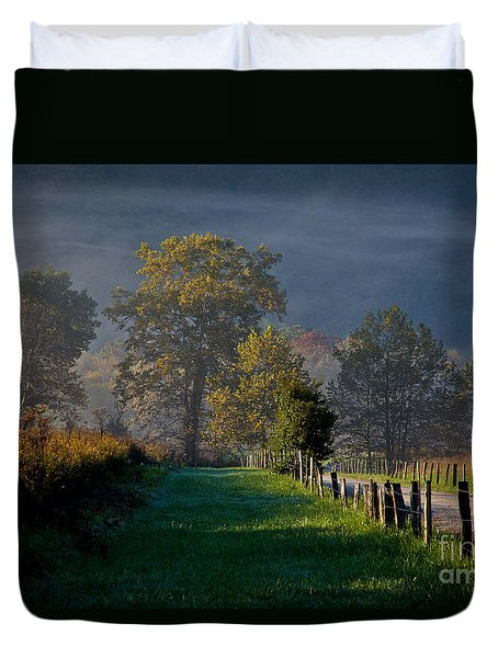 Duvet Cover featuring the photograph Smoky Mountain Morning by Douglas Stucky